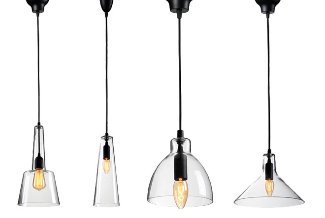 Suspensions en verre luminaires collection miss 01 for Luminaires suspension cuisine bar