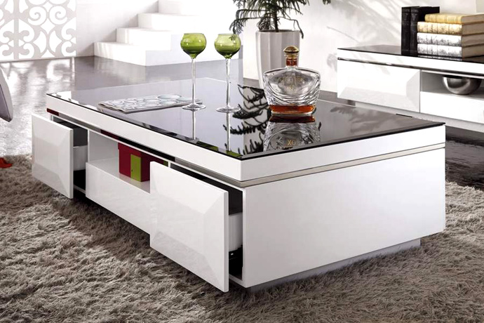 D co salon table basse for Table basse salon verre