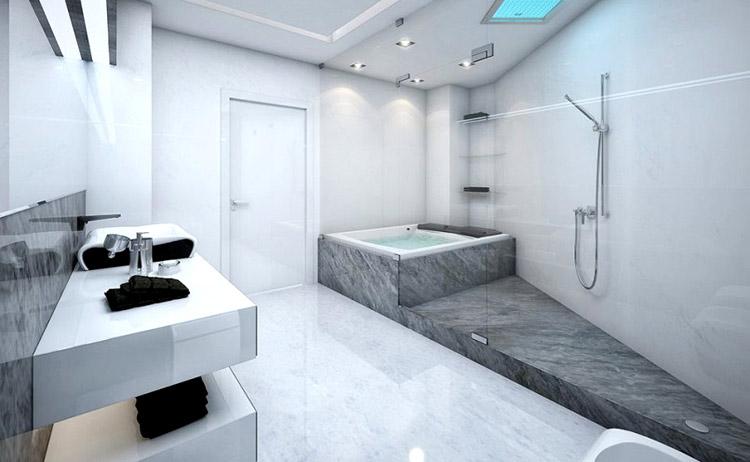 La serviette de bain noire, un classique tendance !  01 Blog Déco